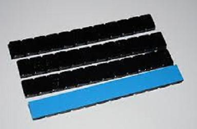 Black Stick On Wheel Weights 5g Strips x 100