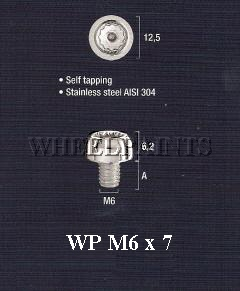 Fake Split Rim Bolts WP M6 x 7.5mm S/Steel Studs (81-00-04)
